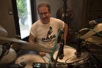 Brian Bromberg on drums